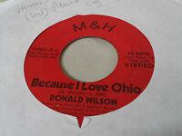 Donald Wilson/River 45 Because I Love Ohio M&H 2 Rare Northern Soul Rock Private