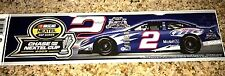 """RUSTY WALLACE #2 LAST CALL CHASE FOR THE CUP 2005 NASCAR BUMPER STICKER 12"""" LONG"""