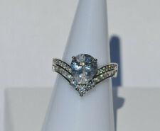 Echt 925 Silber Ring mit Zirkonia crystal Hochzeit Gr 16 mm 52 Nr