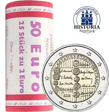25 x Österreich 2 Euro Münzen 2005 bfr. 50 Jahre Staatsvertrag in Rolle