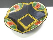 Folk Art Hand Painted Tin Apple Muffin Bowl Toleware Tole FA Brand 61 Cape Cod