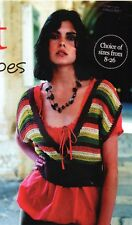 """~ Knitting Patterns For Lady's Lovely Top & Toddler's Tank Top ~ 32""""/50"""" & 1-6yr"""