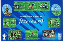 """Bloc, Feuillet 2007 Neuf """" Coupe du monde de rugby 2007 """""""