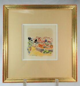 "MAURICE SAVREUX (1884-1971) JOLI MONOTYPE ORIGINAL GRAVURE ""LA PROVENCE"""