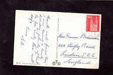 View of Lake Lucerne, Switzerland, Stamp/Postmark C1960's