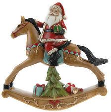Victorian Style Rocking Horse Santa on Traditional Christmas Rocking Horse