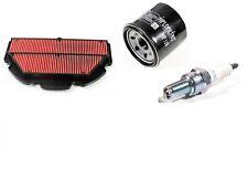 Suzuki GSXR 600 GSXR600 4 Spark Plugs Oil Air Filter Cleaner Tune up kit 06-09