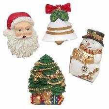 """Christmas Tyme"" Resin Shower Curtain Hooks"