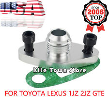 Turbo Oil Return/Drain Flange Adapter AN10 For TOYOTA LEXUS 1JZ 2JZ GTE Aluminum
