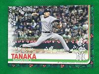 2019 Topps Holiday SP Masahiro Tanaka Garland Variation HW199 Code 063 Yankees
