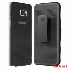 Samsung Galaxy Note 5 Swivel Belt Clip Holster Shell Combo Case Cover Black