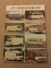 PEUGEOT J7 VAN RANGE orig 1980 Sales Brochure Folder in VGC