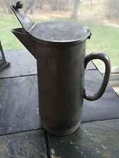 Antique Pewter Pitcher Flagon Marked