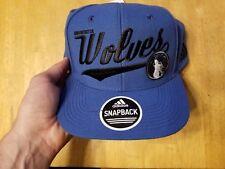 Adidas Minnestoa Wolves NBA Snapback Hat - Adjustable Cap - Baseball - Blue