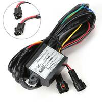 DRL Auto LED Daytime Running Light Dimmer Relay On/Off Controller Switch Harness