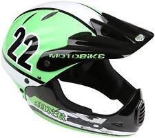 MOTOBIKE Mxr250 Full Face Kids Bike Bicycle MTB BMX Helmet - Green 48-54cm