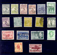 AUSTRALIA 17 Stamps Old Lot Used