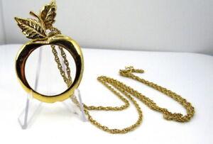 Vintage Magnifying Glass Pendant Necklace Monocle  Avon