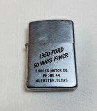 Vintage Zippo lighter Rare Early 1950 Ford Cigarette lighters 50 Ways Finer