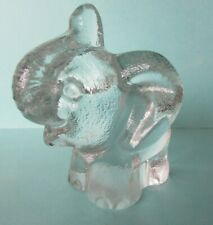 FAB CUTE ELEPHANT GLASS PAPERWEIGHT ORNAMENT