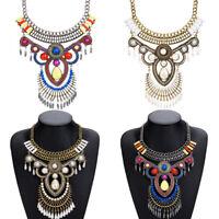 Women Fashion Pearl Jewelry Choker Chunky Statement Bib Pendant Chain Necklace