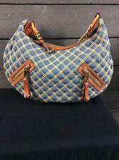 Marc Jacobs 619 Blue Denim Quilted Hobo Bag