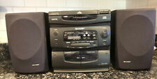 Sharp CD-C444 Mini Component System 3-Disc Changer, Duo Cassette with Remote