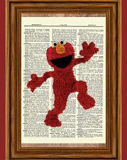 Elmo Sesame Street Dictionary Art Print Picture Poster Nursery Jim Henson
