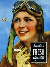 ADVERT CIGARETTE AVIATOR CAMEL TOBACCO FRESH SMOKE ART POSTER PRINT LV083