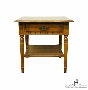 """ETHAN ALLEN Classic Manor Solid Maple 23"""" Square Accent End Table 15-8424"""