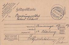 Feldpostkarte 1. Weltkrieg 1916 Lörrach Soldat Richard Scholl Stetten Fliegauf