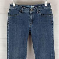 Liz Claiborne womens size 4 stretch blue medium wash mid rise bootcut jeans