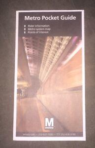 Washington Metro Pocket Guide - 2012 - WMATA