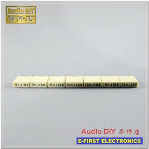 20pcs/200pcs  KEMET-AV R82 0.01uF/100V 5% copper foot MKT film capacitor 10nF