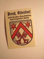 Preußisch Oldendorf / Reklamemarke Kaffee Hag - Wappen