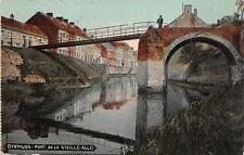 DIXMUDE BELGIUM PONT DE LA VIEILLE-ALLEE WW1 MILITARY FELDPOST POSTCARD 1916