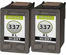 2 cartuchos de Tinta Compatible para HP 337 xl OfficeJet 6315 h470 Deskjet 5940