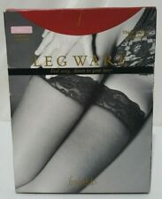 Nwt Vtg Fredericks Of Hollywood Pink/L Thigh Highs Lace Trim Scallop Pantyhose