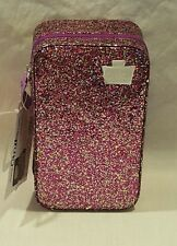 NEW CABOODLES SMITTEN PURPLE GLITTER MAKEUP TRAIN CASE/ORGANIZER
