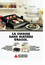 PUBLICITE ADVERTISING 126  1995  Seb  vitasaveur 650 & quick grill