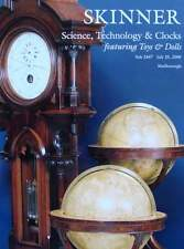 CATALOGUE DE VENTE : SCIENCE,TECHNOLOGIE & HORLOGE (pendule,jouets ancien,armes