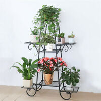 7 Tier Iron Plant Stand Flower Pot Display Metal Shelf for Balcony Room Garden
