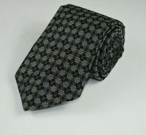NWOT * Robert Talbott * Grey & Black Herringbone Abstract 100% Silk Necktie Tie
