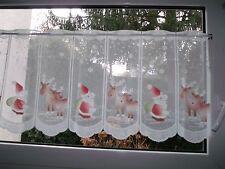 Weihnachtsmann Scheibengardine bunt m. Rentieren 178 x 45 cm teilbar in 12 Teile