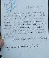 1880 180) LETTERA UTOGRAFA DEL GRANDE POETA E PATRIOTA DI ACRI VINCENZO PADULA