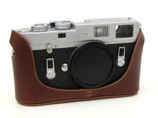 Leather Half Case for Leica M6 M7 MP M2 M3 (with or w/o selftimer) - Med Brown