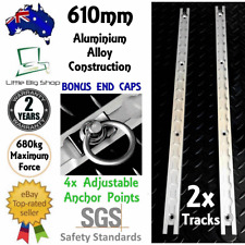 New 2 x ANCHOR TRACK TIE DOWN RAIL System Aluminium Tracking Bike Utes Cargo 4WD