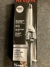 """Revlon RV052C Perfect Heat Ceramic Curling Iron, 3/4"""" Barrel"""