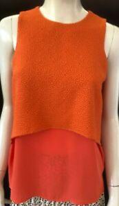 TOKITO Womens sleeveless Orange top size 6 - BNWT