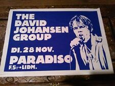 Original David Johansen Group show promotion poster. Paradiso, Amsterdam in 1978